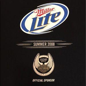 👀 Miller Lite Harley-Davidson T-shirt Sz XL